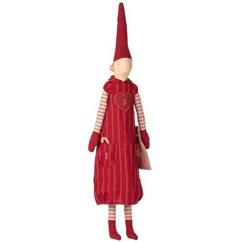 Maileg Adventskalender Wichtel Girl Pixi mit Zipfelmütze 110 cm 14-9460-00