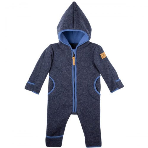 pure-pure by Bauer Wollfleece Overall in jeansblau