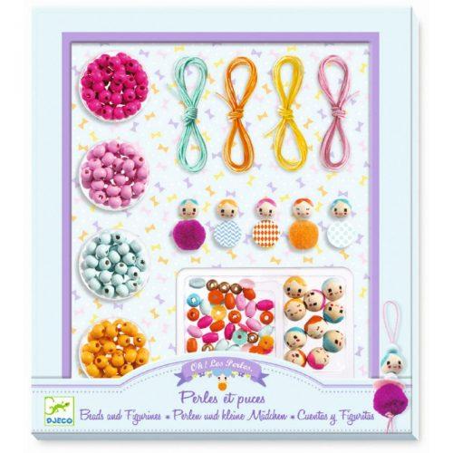 Djeco Schmuck basteln: Perlen und kleine Mädchen