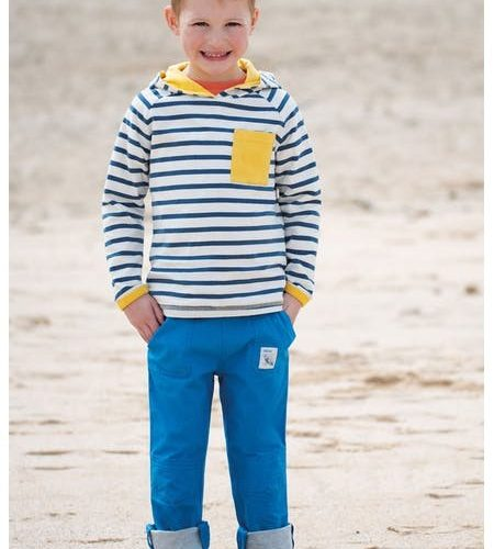 Frugi Adventure-Roll-Up Baumwollhose in blau