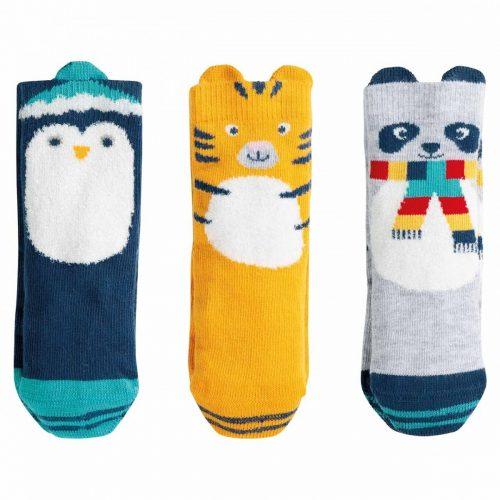 Frugi 3 Paar Socken Tiere aus 100% Bio Baumwolle