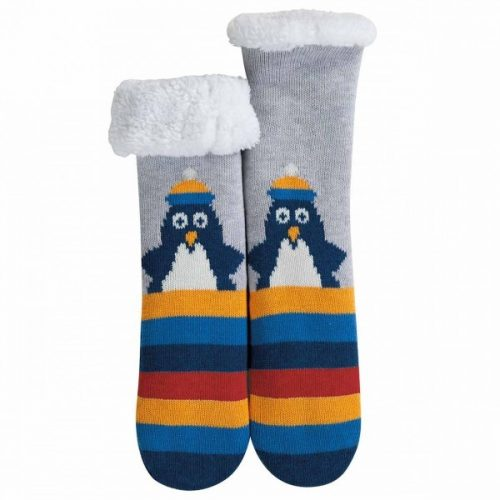 Frugi Stopper-Kuschelsocken Pinguin