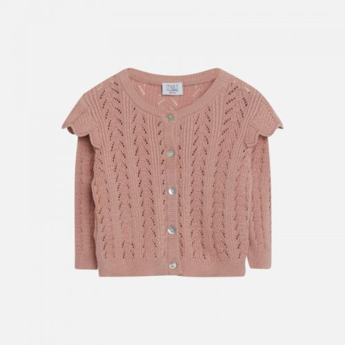 Strickjacke Caris von Hust & Claire in dusty rose aus 100% Baumwolle