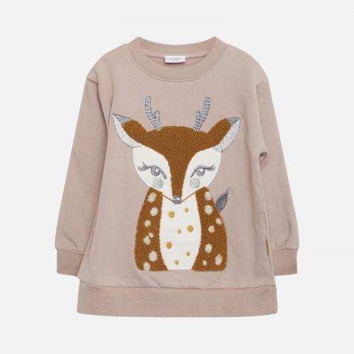 Sweatshirt Bambi von Hust & Claire aus kuscheligen Fleece