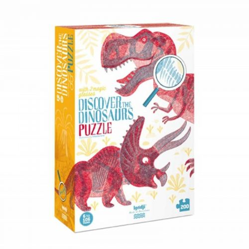 Londji Puzzle: Dinosaurier - Discover the dinosaurs