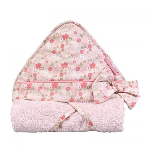 Little Crevette Badehandtuch mit Kapuze Mila in rosa