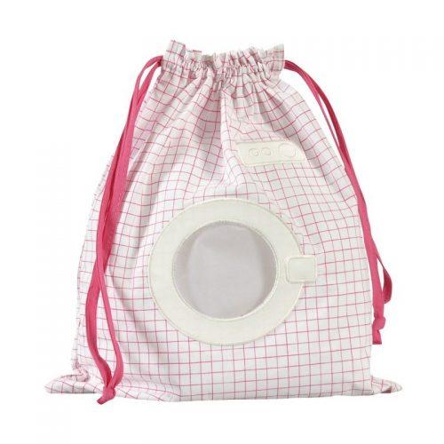 Little Crevette Wäschebeutel Waschmaschine weiss-pink