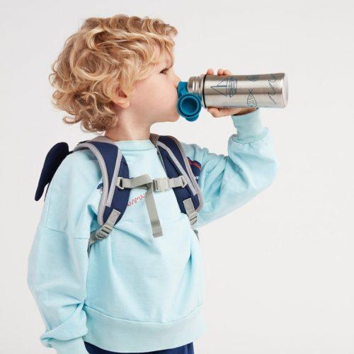 Affenzahn Edelstahl Trinkflasche petrol für stille und kalte Getränke