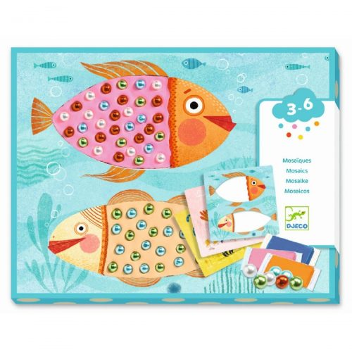 Djeco Knetbilder Fische - Kollagen mit Knete und Perlen kreieren
