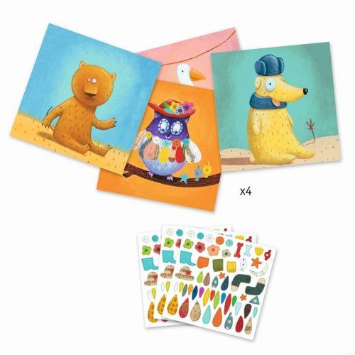 Djeco Tiere - Basteln mit Stickern
