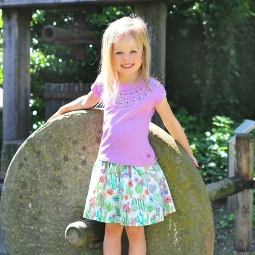Enfant Terrible Wenderock Kakteen und Blumen in weiss-gruen