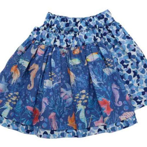 Enfant Terrible Wenderock Pinselblumen und Fische in blue light-sky