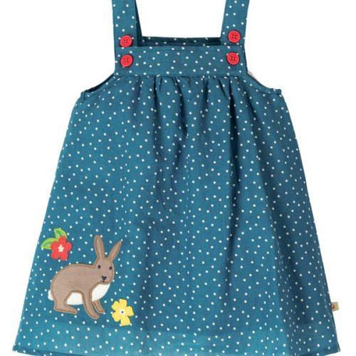 Frugi Kleid Hase für kleine Mädchen aus 100% Bio Baumwolle