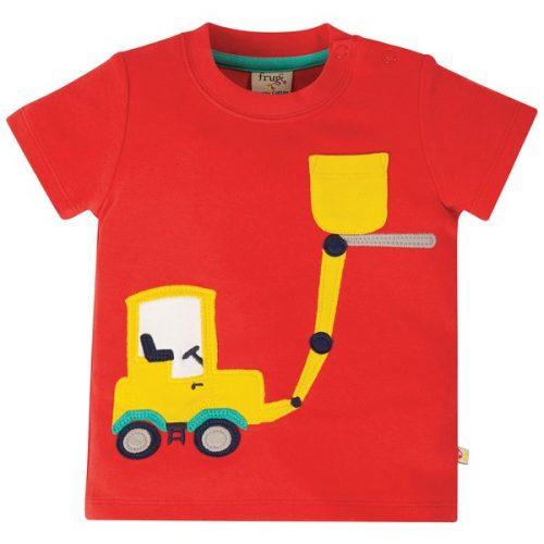 Frugi Kurzarm-Shirt Bagger in rot