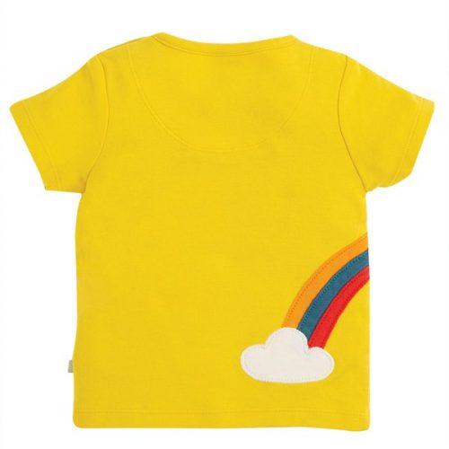 Frugi Kurzarm-Shirt Dino in gelb aus 100% Bio Baumwolle