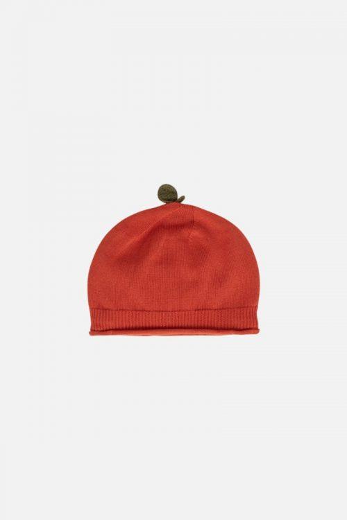 Babymütze Feri in spicy red von Hust & Claire in drei Farben erhältlich