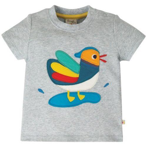 Frugi Kurzarm-Shirt Little Duck aus Bio Baumwolle