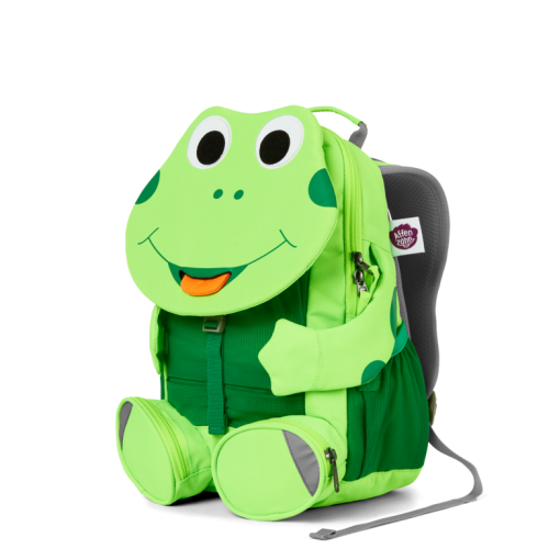 Affenzahn Kinderrucksack Frosch gross ab 3-5 Jahren in neon grün
