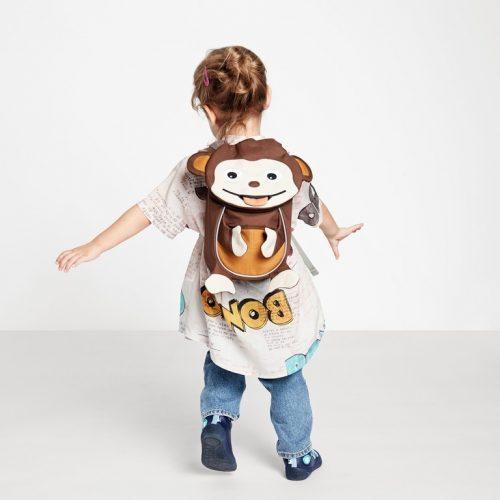 Affenzahn Kinderrucksack Affe klein in braun ab 1-3 Jahren