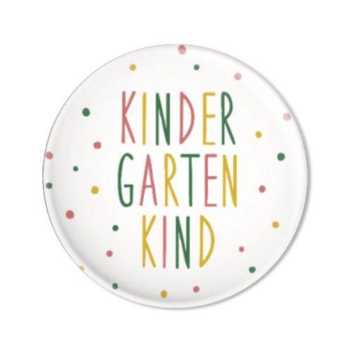ava & yves Button Kindergartenkind, Konfetti rosa - für stolze Kinder