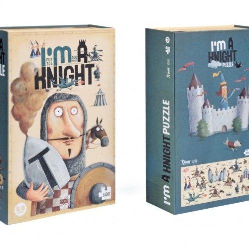 Londji Puzzle Ritter 100-teilig Bodenpuzzle für Kinder ab 5 Jahren