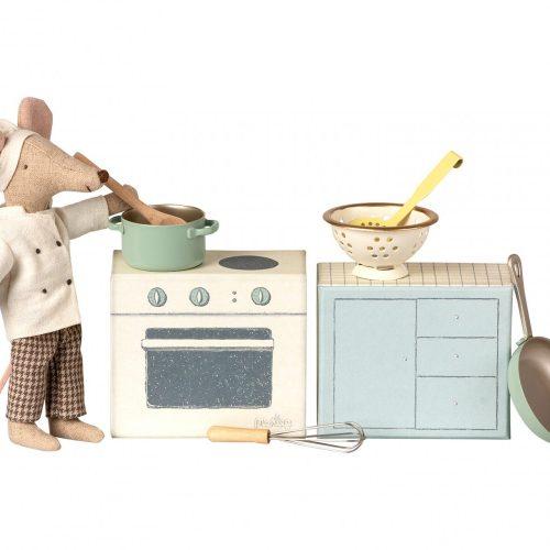 Maileg Küchenherd inkl. Zubehör (Lieferung ohne Maus)