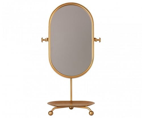 Maileg Vintage Spiegel in gold mit Ablage für Haarspangen etc.