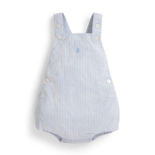 Baby-Latzhose blau-weiss von JoJo Maman Bébé - perfekte Sommerhose