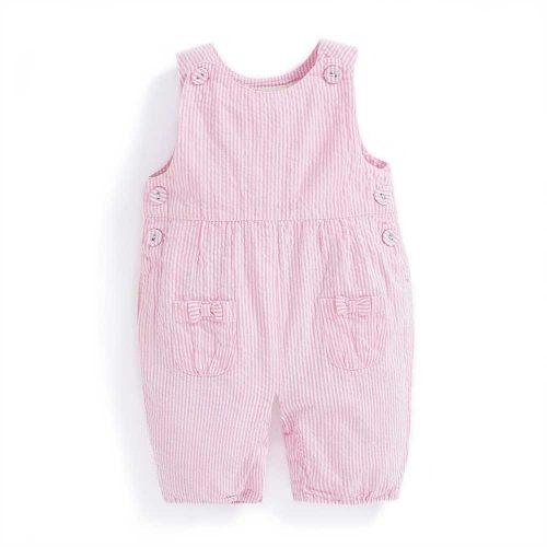 Baby-Latzhose rosa-weiss von JoJo Maman Bébé - perfekte Sommerhose