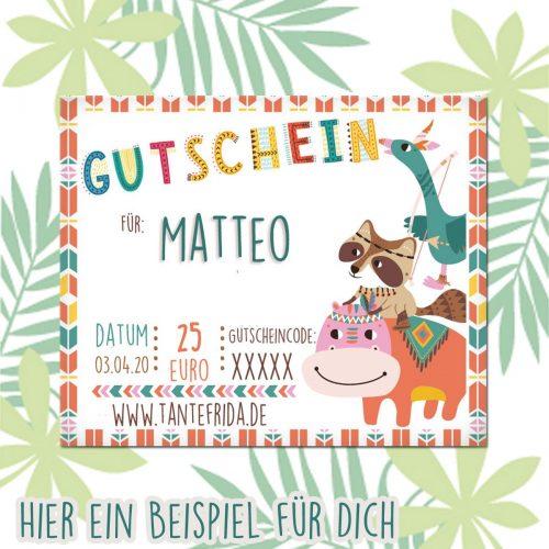 Gutschein Go Wild Matteo