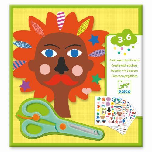 Djeco Frisuren - Schere und Sticker