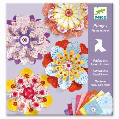 Djeco Origami Blumen - Blüten zum falten für Kinder ab 7 Jahren