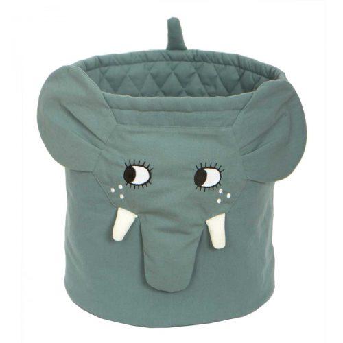 Spielzeugkorb Elefant in grau von Roommate
