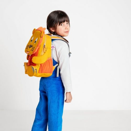 Affenzahn Kinderrucksack Löwe gross in gelb-orange