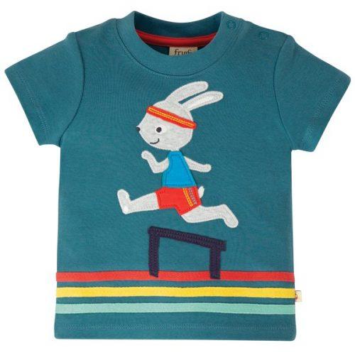 Frugi Kurzarm-Shirt Little Bunny aus Bio Baumwolle