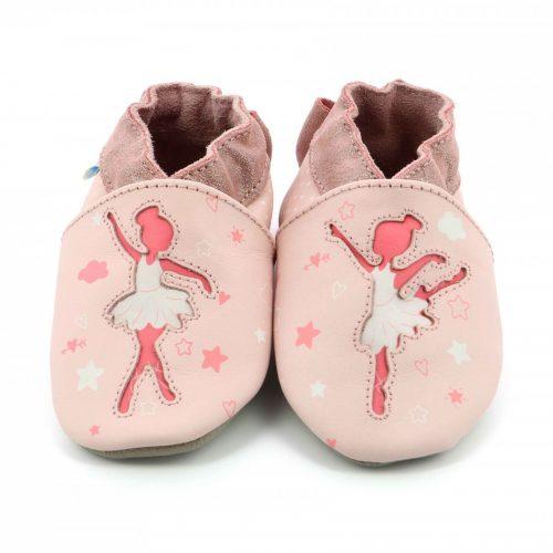 Robeez Krabbelschuhe Ballerina in rosa für Baby und Kleinkind
