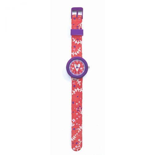 Djeco Armbanduhr Herz mit Stunden- und Minutenanzeige