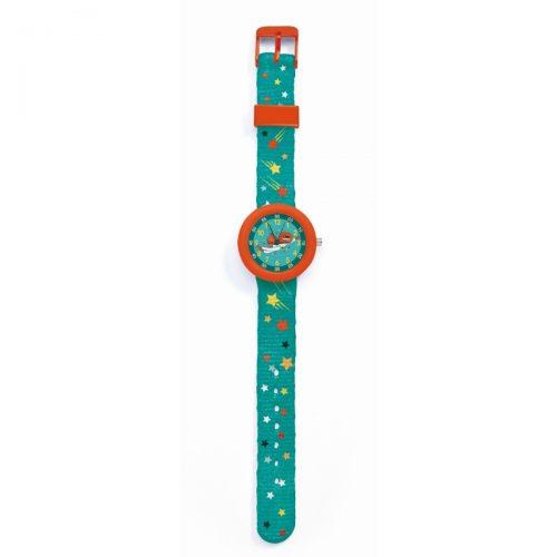 Djeco Armbanduhr Superheld mit Stunden- und Minutenanzeige