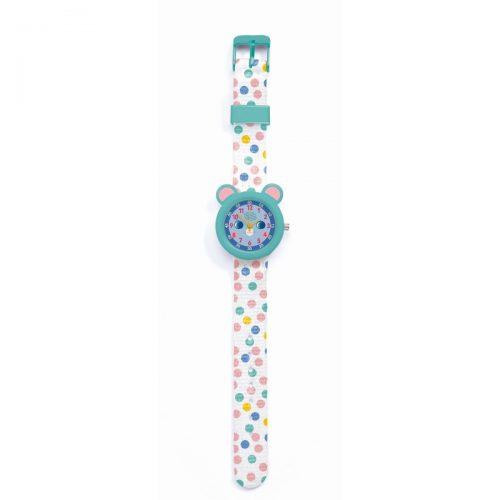Djeco Armbanduhr Maus mit Stunden- und Minutenanzeige