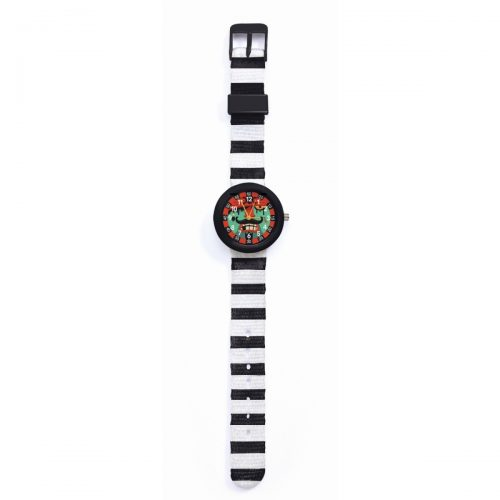 Djeco Armbanduhr Pirat mit Stunden- und Minutenanzeige
