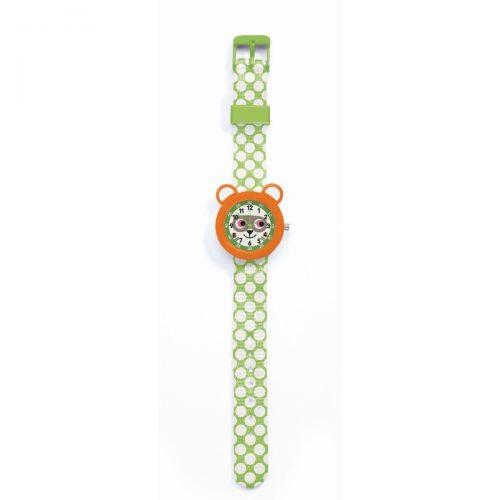 Djeco Armbanduhr Waschbär mit Stunden- und Minutenanzeige