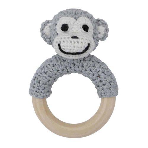 Ringrassel Affe in grau - perfekt als Greifling und Zahnungshilfe