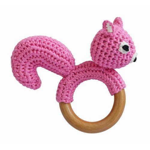 Ringrassel Eichhörnchen in rosa