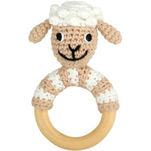 Ringrassel Schaf - perfekt als Greifling und Zahnungshilfe