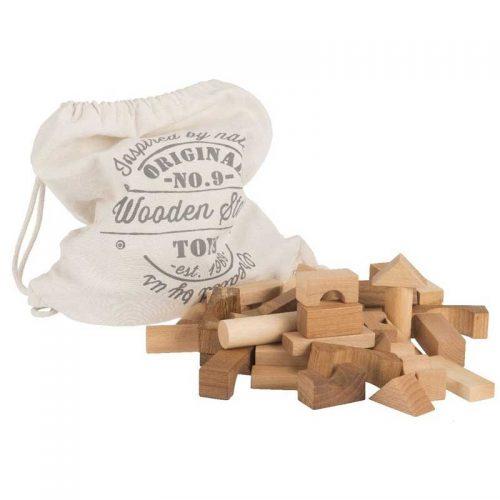 Wooden Story Holzbauklötze naturbelassen (FSC), 101-teilig