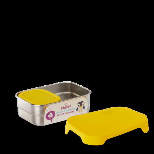 Affenzahn Edelstahl Lunchboxen-Set gelb - perfekt für Kita und unterwegs