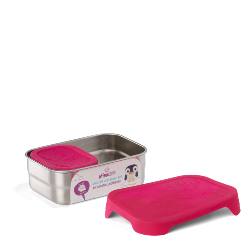 Affenzahn Edelstahl Lunchboxen-Set pink - perfekt für Kita und unterwegs