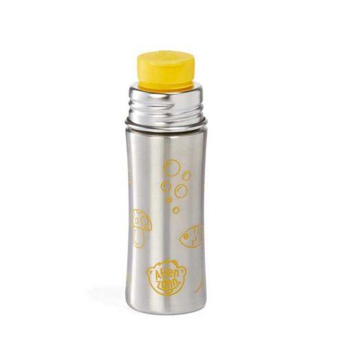 Affenzahn Edelstahl Trinkflasche Tiger gelb für stille und kalte Getränke
