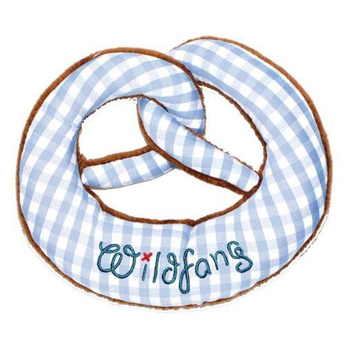 Brezel hellblau kariert - niedliches Geschenk zur Geburt