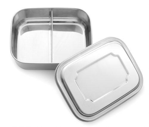 Edelstahl-Lunchbox Base 2 Fächer von LEKKABOX